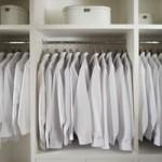 roupas brancas e pretas