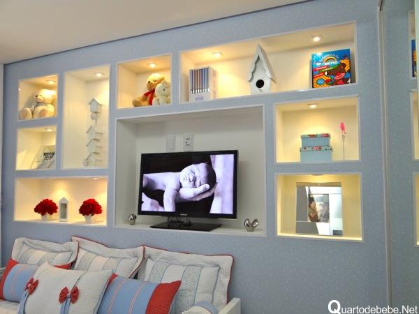 Nichos Na Sala De Tv ~ Nicho para quarto de bebê ou infantil